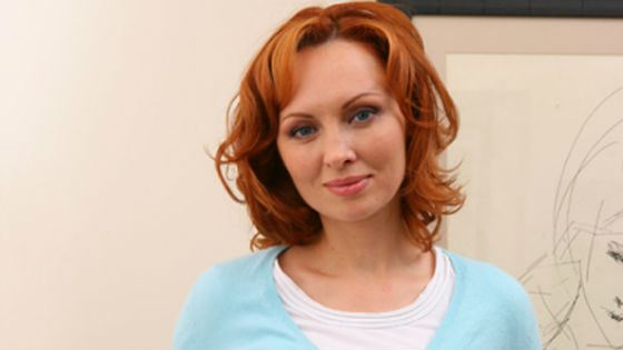 Star of domestic TV series, actress Elena Ksenofontova