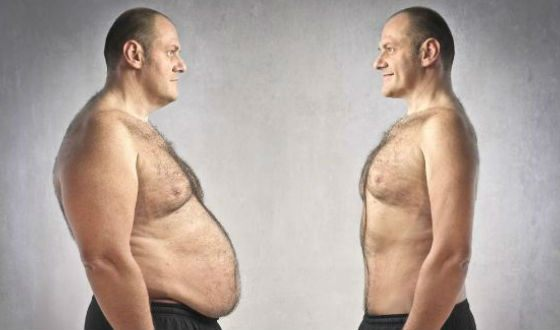 Both men and women want to get rid of a big belly