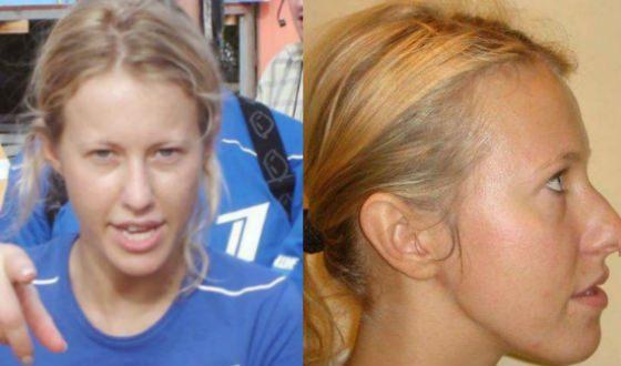 Из-за фото без макияжа к Ксении Собчак приклеилась кличка «лошадь»