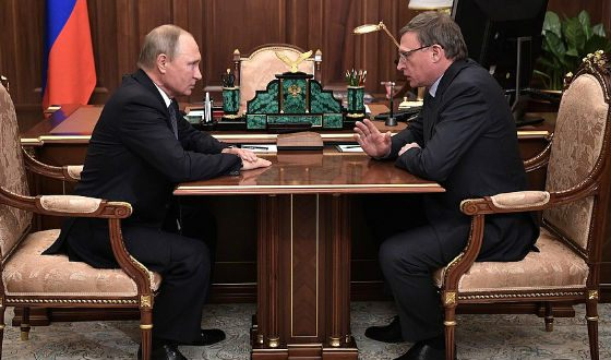 Alexander Burkov and Vladimir Putin