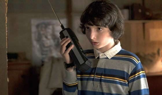 A frame from the TV series «Stranger Things»
