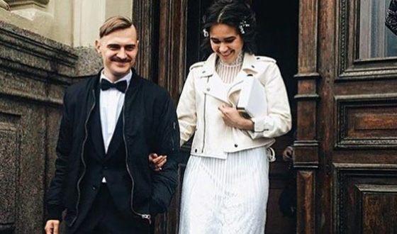Ilya Prusikin with his wife Irina