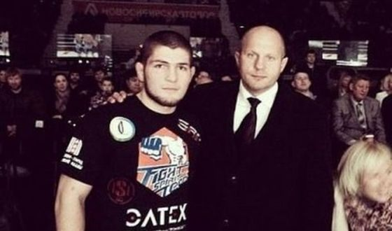 Khabib Nurmagomedov and his sport idol – Fedor Emelianenko