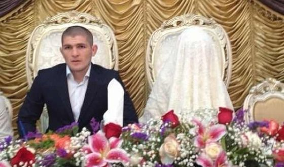Khabib Nurmagomedov and his wife