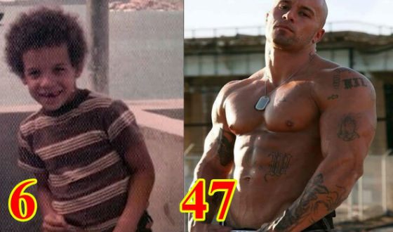Vin Diesel as a child and now