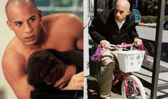 Vin Diesel on the set of «A Pacifier»
