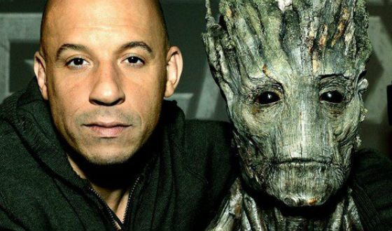 Vin Diesel gave voice and facial expressions for Groot from «Guardians of the Galaxy»