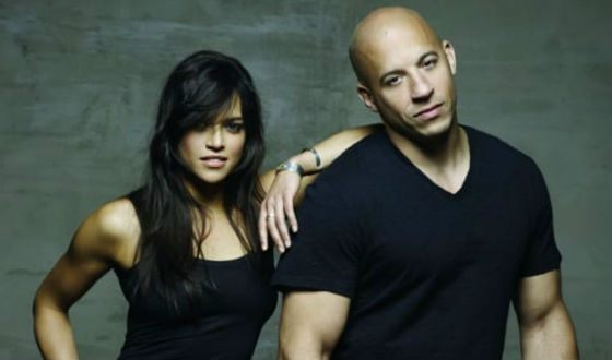 The love affair between Vin Diesel and Michelle Rodriguez began on the setting stage