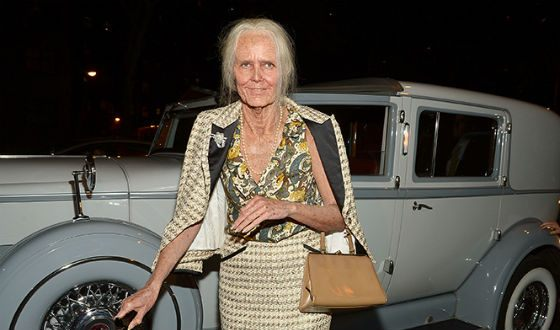 Heidi Klum on Halloween in 2013: An Old Woman at Chanel