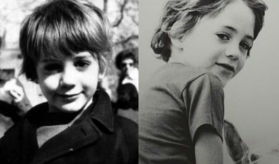 Robert Downey Jr. as a child