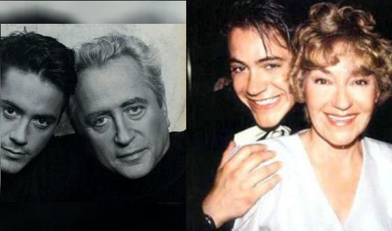 Robert Downey Jr. with his parents