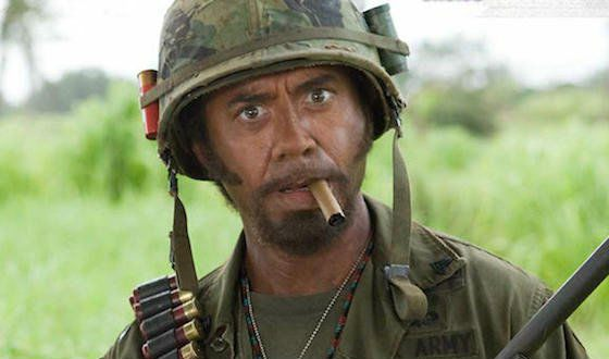 Robert Downey in «Tropic Thunder»