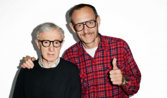 Terry Richardson with Woody Allen