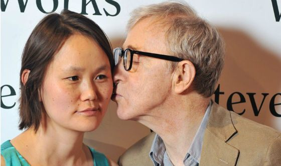Woody Allen and his wife. Or daughter - this is how to look