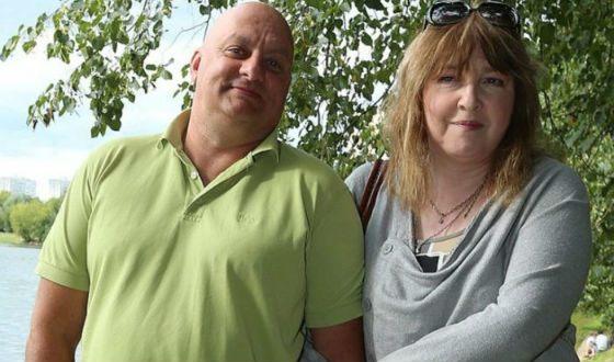 Katya Semenova with her husband