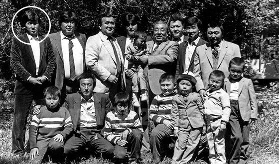 Photos from the family archive. Family of Sooronbaya Jeenbekov