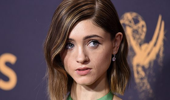 In the photo: actress Natalia Dyer