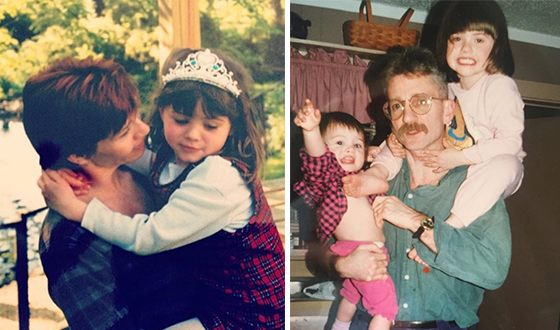 Natalia Dyer's photos as a child, with her parents