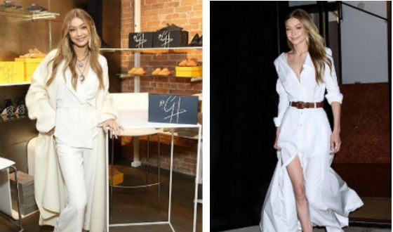 Gigi Hadid outfits were perceived as a hint of a wedding