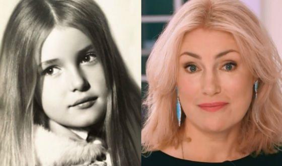 Мария Шукшина в детстве и сейчас