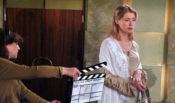 Молодая Мария Шукшина на съемках сериала «Дорогая Маша Березина»