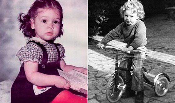 Rose McGowan in childhood