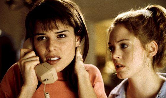 "Rose McGowan in the movie ""Scream"""