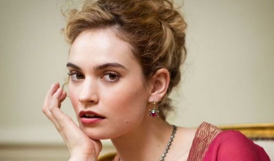 Lily James played Natashia in BBC «War and Peace»