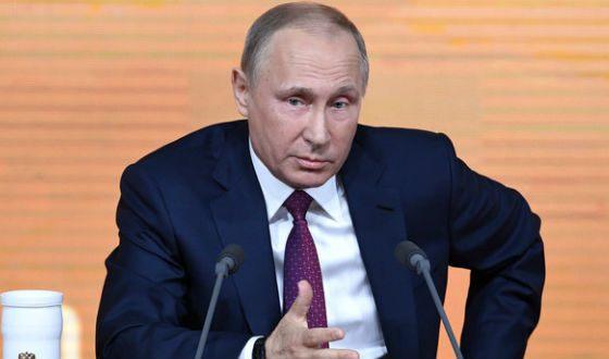 Владимир Путин биография президента новости фото семья жена  Владимир Путин на декабрьской пресс конференции 2017 года