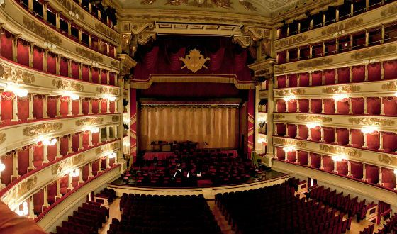 Inside the la scala theater