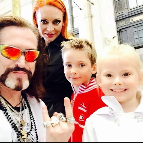 Nikita Dzhigurda and Marina Anisina with children