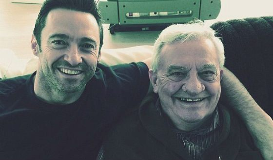 Pictured: Hugh Jackman with his father