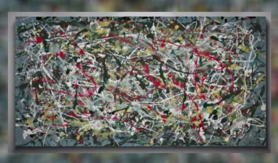 Jackson Pollock fake Pei-Sheng Qian