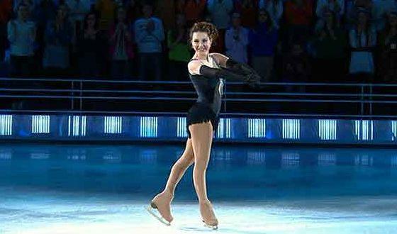 "Irina Slutskaya in the show ""Ice Age"" (2013)"