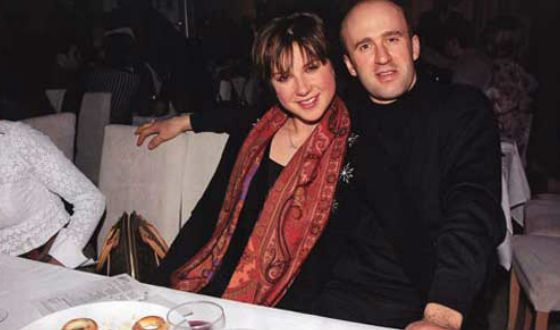 Irina Slutskaya's husband is a former boxer