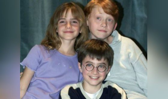 The trio of young wizards - Harry, Ron, and Hermione