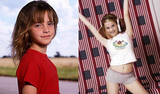 Chilhood pictures of Emma Watson