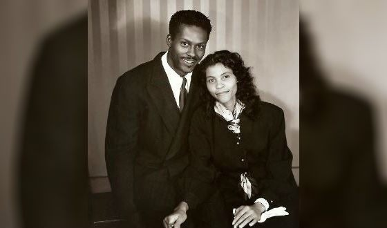 Young Chuck Berry with his wife