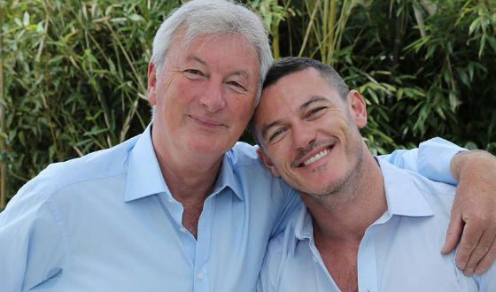 In the photo: Luke Evans with his father