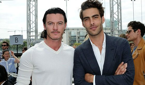 Luke Evans and his boyfriend John Cortacharena