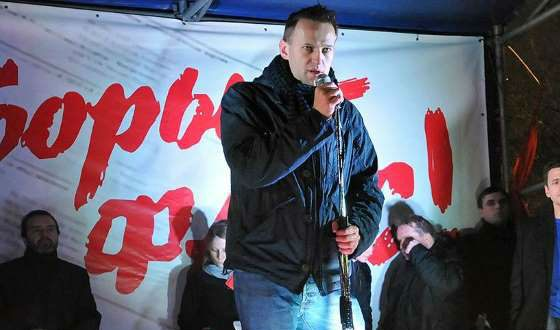 Alexei Navalny at the meeting on Chistoprudny Boulevard