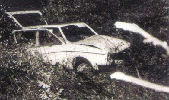Машина Гюнтера Штолля была найдена в канаве