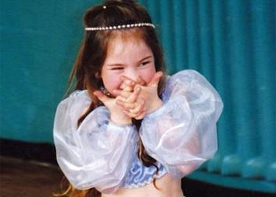 Lily James in childhood