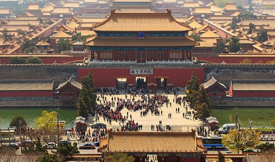 From the 15th to the 20th centuries, Chinese emperors lived here.