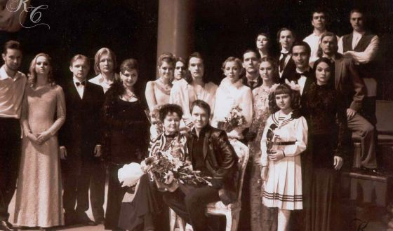 Maxim Matveyev and his fellow students at the Saratov Conservatory
