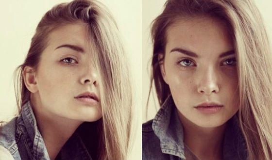 Совсем юная Полина Попова на заре модельной карьеры