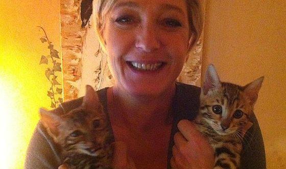 Женщина-политик любит кошек
