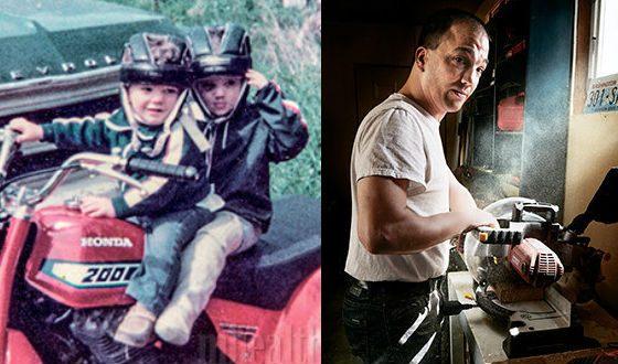 Братья Пит в детстве. Справа: Стив Пит