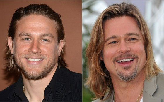 Charlie Hannam and Brad Pitt are alike