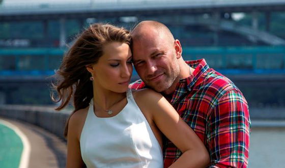 In the photo: Konstantin Soloviev and his wife Anastasia Larina